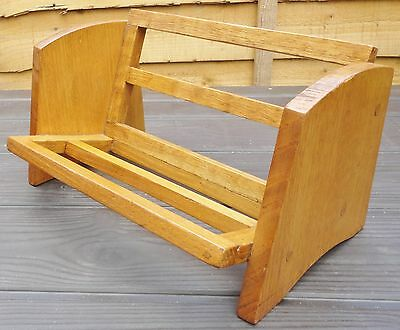 Vintage Hand Crafted Wooden Book Trough (Rack design)