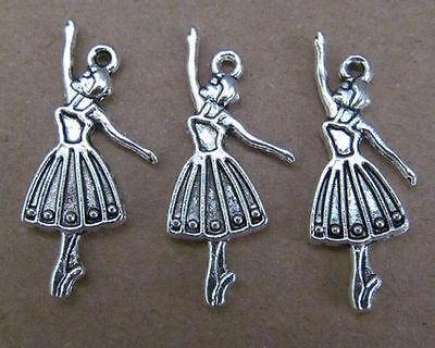 20pc retro charm butterfly swing Tibet silver beads accessories    PL015