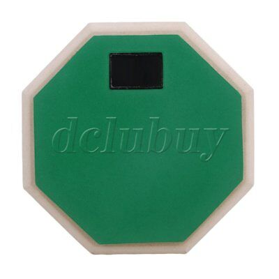 165mm x 27mm Portable Rubber Wood 2-Sided Practice Pad Green