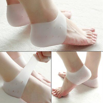 Breathable Hole Silicone Gel Cushion Pad Foot Pain Reliever Protector Heel 1Pair
