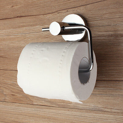 New Chrome Toilet Roll Tissue Paper Dispenser Holder Round Wall Mounted