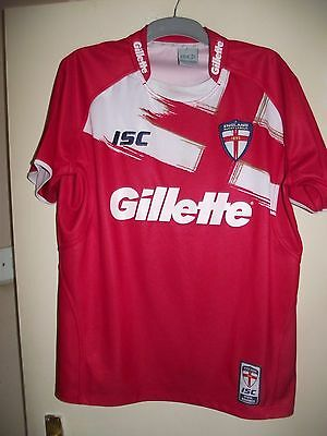 england rugby league isc gillette red xl rugby league shirt super