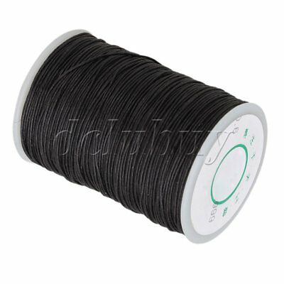 Black Waxed Natural Linen Thread Cord Leather Craft Chisel Sewing 0.6mm 100M