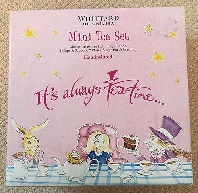 Whittards Alice In Wonderland Drink Me Tea Set Boxed 2006 HTF Rare