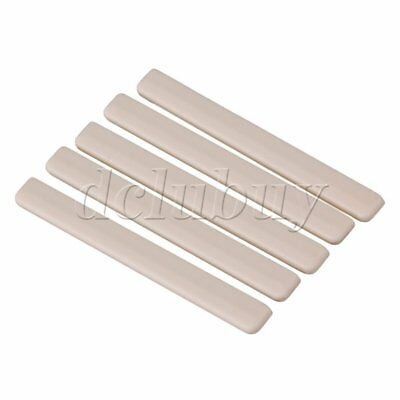Ukulele Guitar 5.3x0.3x0.6cm Beige Plastic Saddles Replacement Pack of 5