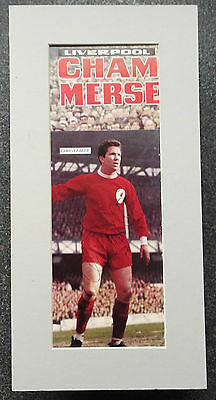 """CHRIS LAWLER - LIVERPOOL & ENGLAND SIGNED 12""""x 6"""" MOUNTED PICTURE ANFIELD LEGEND"""