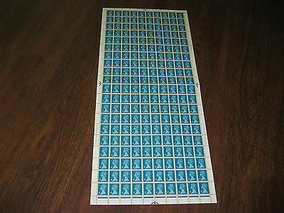 X996 4p GREENISH BLUE COMPLETE SHEET STAMPS  SG £100
