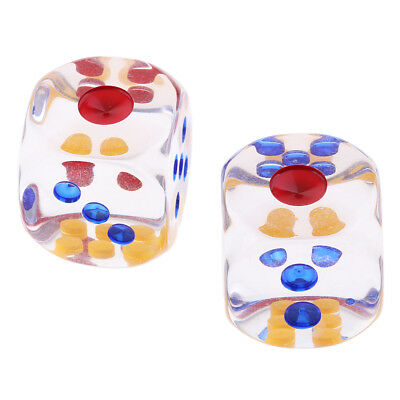 2PCS 6-Sided Dice D6 Polyhedral Dice 29mm for Teaching Math Party Board Game