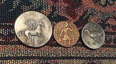 Ancient Greek Roman Coins *Not Silver* Tetradrachm horse tree crab unknown 333AD