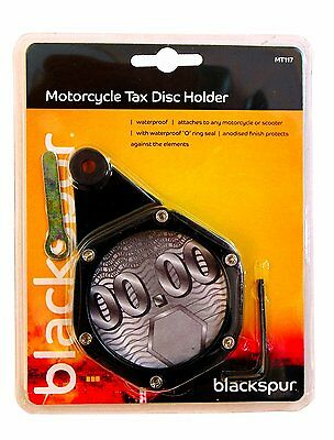 Universal Motorcycle & Scooter black Tax Disc Licence Holder