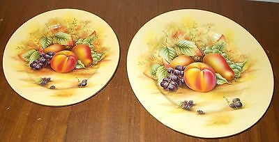 "Aynsley Orchard Gold 1 x 10½"" dinner plate and 1 x 8¼"" salad plate"