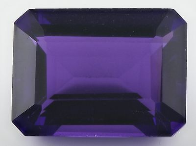 20x15mm OCTAGON-FACET STRONG-PURPLE NATURAL BRAZILIAN AMETHYST GEM (APP £420)