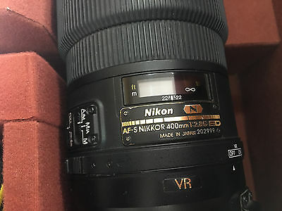 Nikon AF-S VR 400mm F2.8G IF ED N Nano Crystal con Valigia Flying Case CT-404
