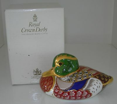 Royal Crown Derby Bakewell Duck Paperweight Ltd. Edit For Sinclairs Boxed 1995