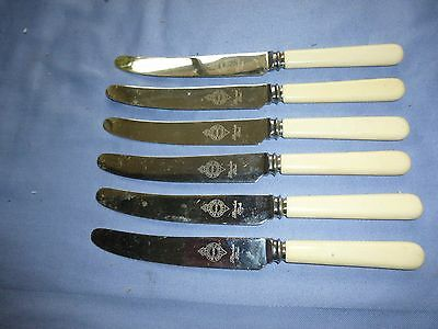 Vintage Collectable Cutlery Set Of 6 Dinner Knives 20.5 Cm Butter Knives Sheff