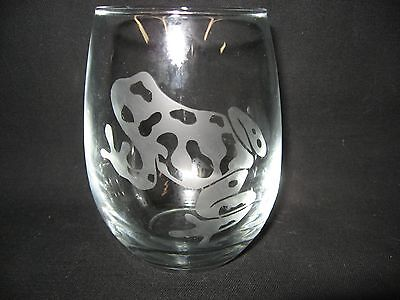 New Etched Poison Dart Frog Stemless Wine Glass Tumbler