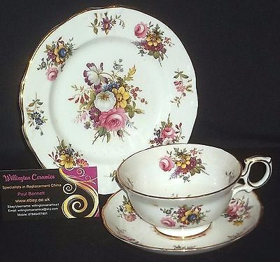 Hammersley DRESDEN / HOWARD SPRAYS Cabinet Cup, Saucer and Side Plate - TRIO
