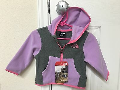 Brand New!! The North Face Baby Infant Girl Glacier Hoodie Size 3-6M
