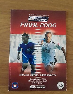 Carlisle United V Swansea City 2Nd April 2006 Football League Trophy Final