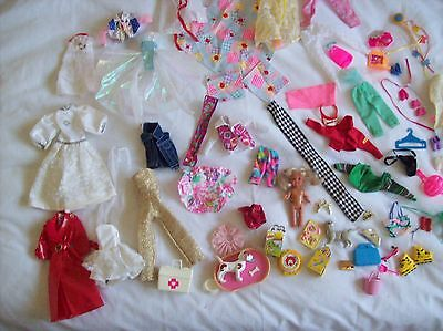 Barbie Clothes Large Mixed Lot & Shoes, Pets, Accessories & Shelley Doll