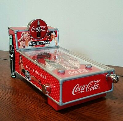 Coca Cola Pinball Machine Musical Bank 1998