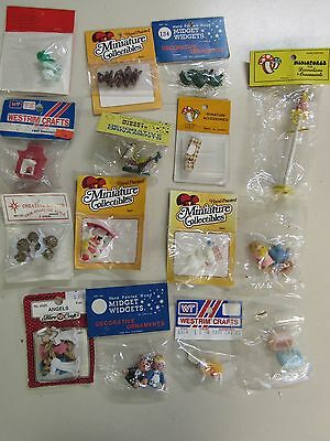 15 Vintage Packs Assorted Miniature  Doll House  Collectables Fairy Garden A