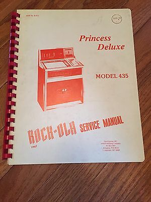 "Original 1967 Rock Ola Model 435 ""Princess Deluxe"" Service Manual"