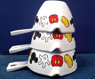 DISNEY MICKEY MOUSE BODY PARTS PRINT MEASURING CUPS - Missing 1 Cup Measure