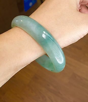 Very Icy!!!! Certified 100% natural untreated jadeite jade bangle bracelet 59mm