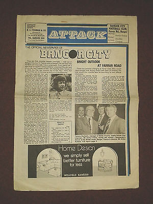 Bangor City 1977/8 Attack! newspaper - issue one