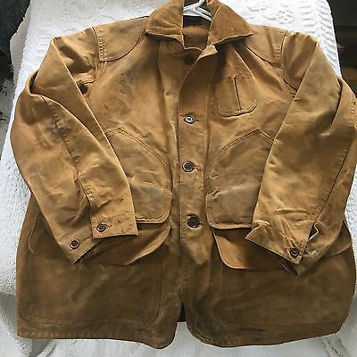 Men's Vintage/Distressed Western Field Canvas Montgomery Ward Hunting Jacket Med