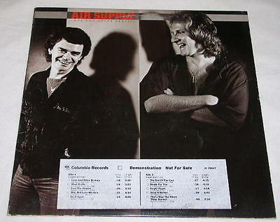 Air Supply Promotional Record Album Vintage Love And Other Bruises