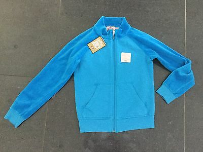 NWT Juicy Couture New & Gen. Girls Age 8 Blue Velour Mix Jacket With Juicy Logo