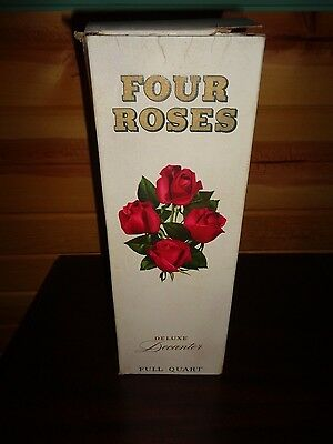 Original box to a Four Roses whiskey decanter,older,pre zipcode