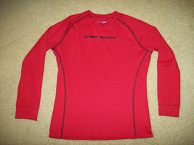 Pre-Owned Under Armour Cold Gear Fitted Boy's Long Sleeve Shirt Size Youth Xl