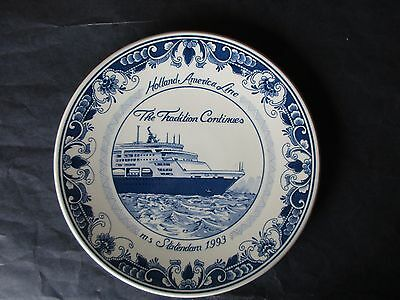 Holland America Line-M S Statendam 1993 Collector Plate-The Tradition Continues