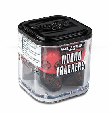 Warhammer 40,000 Wound Trackers Red And Black BNIB