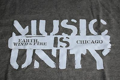 Earth Wind & Fire EWF Chicago / TOUR T-SHIRT / - Grey - Size L - New