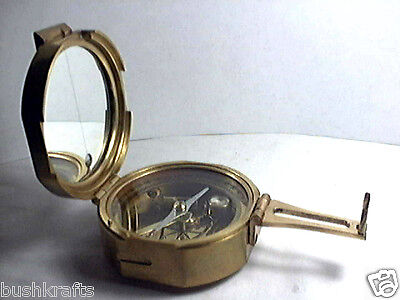 ESSEX Brass Nautical Maritime Surveyor Compass Heavy Duty Replica Vintage