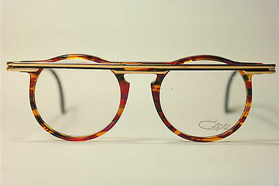 Vintage Cazal Mod. 648 Col. 750  48[]19 140 Gold Rot oval Brillengestell NOS