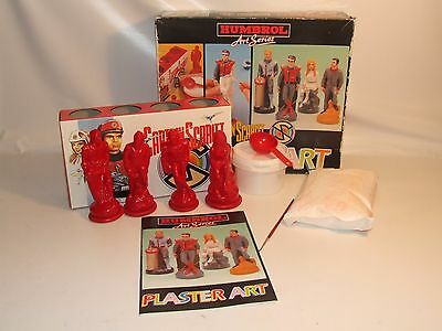 Captain Scarlet Plaster Art Set By Humbrol Boxed Unused 1993 Gerry Anderson