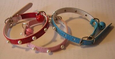 Two Cat Collars Elasticated For Safety.