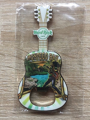 Hard Rock Cafe Montego Bay Guitar Bottle Opener Magnet 2 !! Awesome !!