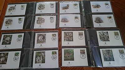 WWF wildlife 10 x sets First Day Covers in Album