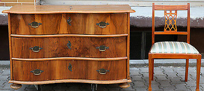 BAROCK KOMMODE ANTIK NUSSBAUM + MAHAGONI HOLZ STERNINTARSIE old baroque chest