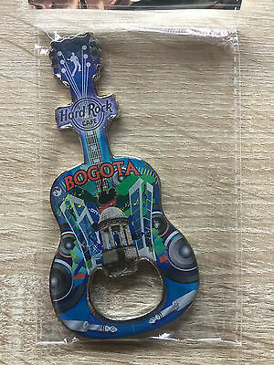 Hard Rock Cafe Bogota new Guitar Bottle Opener Magnet !! HTF !!