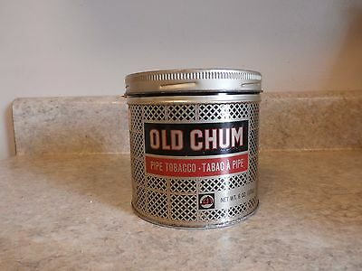 Old Chum Smoking Pipe Tobacco-Tabac A Pipe Tin-Imperial Tobacco Limited Montreal