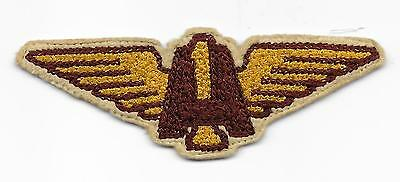 Rare 1930's USMC Aircraft 1 Patch. 4 inch version. Uniform removed.