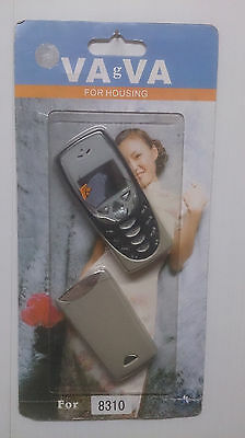 Replacement Fascia for Nokia 8310 - Case Housing Cover & Keypad Silver + Black