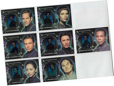 "Star Trek Enterprise Season 2: 7 Card ""Enterprise Gallery"" Chase Set G1-G7"